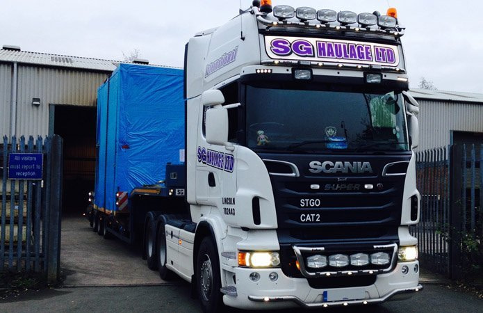 Front of Scania R730 lorry