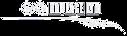 sg haulage logo white